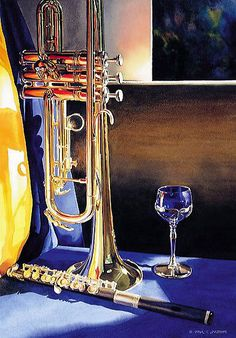 """""""""""High Notes"""" Watercolor"""" by Paul Jackson   Redbubble"""