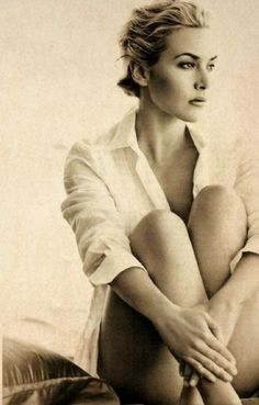 Blouse - white - beautiful Kate Winslet  #Women #Portrait #glamour #photography