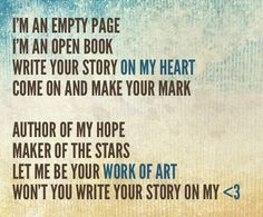 Write Your Story by Francesca Battistelli - Amazing song!!
