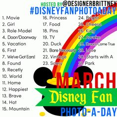 March Disney photo a day