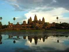 Angkor Wat, one of the seven wonders of the world (haven't been there but want to go there, but my sister has been)