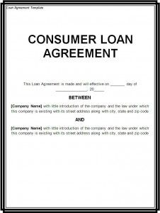 printable sample loan contract template form - Sample Lending Contract