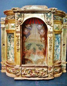 Magnífico sagrario de pps. del s. XVII. Realizado en madera tallada, policromada, dorada y estofada. - Foto 1
