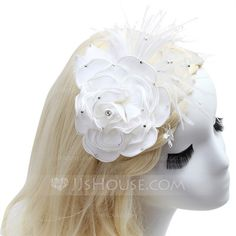 [US$ 18.49] Charming Feather/Satin Flowers & Feathers (042052559)