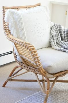 One Room Challenge Family Room Reveal. Rattan ChairsWickerRec ...