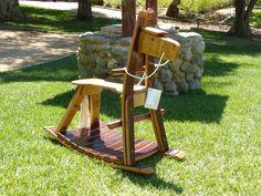 Wine Barrel Rocking Horse named Trabuco by TCBarrelWorks on Etsy, $825.00