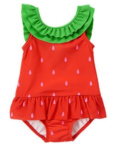 Strawberry One-Piece Swimsuit from Gymboree (summer 2013)