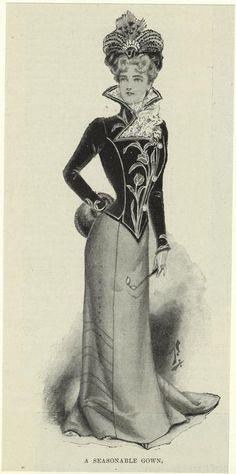 1900  A seasonable gown.