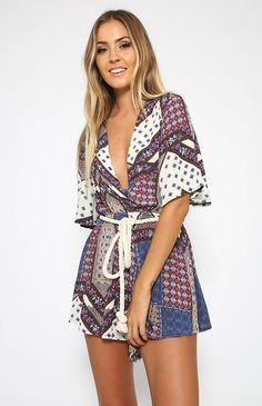 Early Warning Playsuit - Print from Peppermayo.com