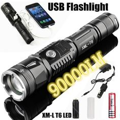 Buy 2019 Updated Version CREE Led Torch Range Penlight Phone Usb Charging Flashlight Linternas/ Lampe Torche+ Charger+ Rechargeable Battery at Wish - Shopping Made Fun Battery Icon, Off Grid Batteries, Usb, 18650 Battery, Led Flashlight, Cool Things To Buy, Range, Radios, Phone Chargers