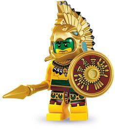 site:minifigures.lego.com | LEGO.com Minifigures : Bios - Series 7 - Aztec Warrior