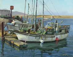 Working Boats by John Cosby Oil ~ 16 x 20