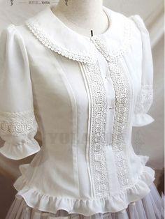 Vintage Pure White Lace Lolita Blouse - - Vintage Pure White Lace Lolita Blouse Source by twidhammer Vintage Outfits, Vintage Fashion, Japanese Fashion, Asian Fashion, Mode Pro, Mode Lolita, Cute Blouses, Vintage Mode, Skirts
