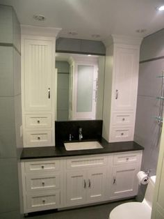 Beautiful Bathroom Vanity And Linen Cabinet Ideas ,There are already a broad selection of bathroom cabinets to choose from. Cabinets in a bathroom could be constructed to match the present fashion of a. Bathroom Linen Tower, Bathroom Linen Closet, Bathroom Linen Cabinet, Linen Cabinets, Closet Vanity, Bathroom Vanity Cabinets, Bathroom Layout, Bathroom Interior Design, Bathroom Fixtures