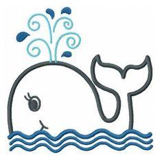 whale applique machine embroidery design. $4.00, via Etsy.
