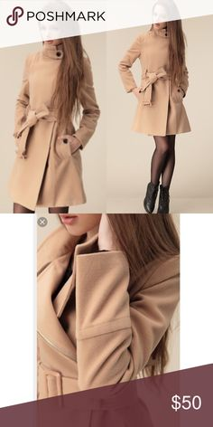 Offers welcome! No lowballing Beautiful woolblend This beautiful stylish coat is perfect for the upcoming chilly fall/winter weather just too small for me! 😢 size: S/M Jackets & Coats Pea Coats