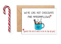 Funny Christmas Card For Him Boyfriend Christmas Card