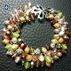♥ Unique Nature's Tones Fire Polished Czech Crystal Plated Silver Bracelet | Bijoux & montres, Bijoux artisanaux, Bracelets | eBay!
