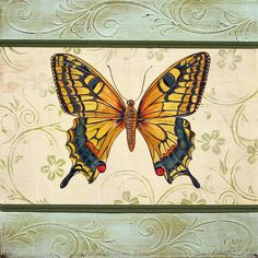 Lovely Butterfly-1 by Jean Plout - Lovely Butterfly-1 Painting - Lovely Butterfly-1 Fine Art Prints and Posters for Sale
