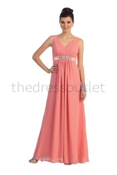 Long Bridesmaids Dress Chiffon Formal Plus Size Evening Gown