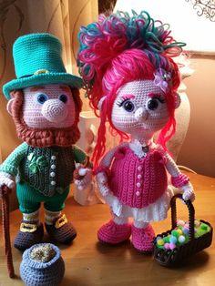 Ontmoet Melody, het vriendinnetje van Paddy. Want wat is een Leprechaun zo helemaal alleen, haak haar alleen of samen met haar grote schat Paddy.