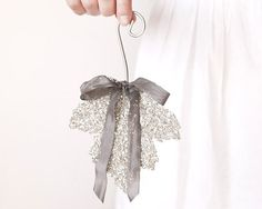 Maple Leaf Ornament  Frosty Silver Decoration by smilemercantile, $13.50
