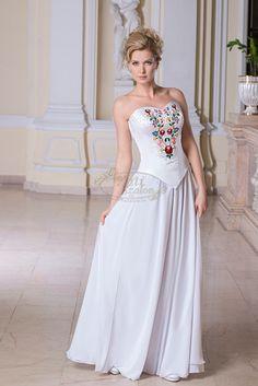 649- kalocsai patterned simple wedding dress