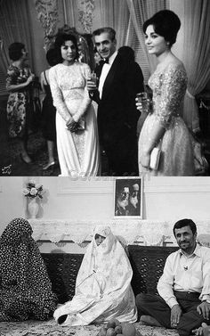 "Iran, before and after ""sharia law."" In America, there should be no exercise of this foreign, oppressive ""sharia law."" ~@guntotingkafir GOD BLESS AMERICA AND GOD BLESS PRESIDENT TRUMP!!!"