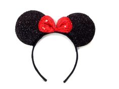 Mickey Mouse Minnie Mouse Ears Headband Sparking: M1 (Black) ** Click on the image for additional details.