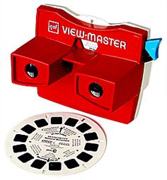 Hands up who owned a View-Master viewer as a kid? That bright red device with a trigger on the side into which you popped View-Master dis. My Childhood Memories, Childhood Toys, Sweet Memories, School Memories, View Master, Master Art, Vintage Games, Vintage Toys, Telephone Retro