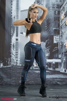 Black Widow - Super Hero Leggings - Fiber - Roni Taylor These Black Widow Super Hero Leggings from Fiber are great for working out, casual wear or even dressing up for Halloween. You will love these exclusive leggings that are made from the highest quality materials to make sure they look great, feel even better and last longer than you ever thought possible. Limited Edition and once they are sold out they will not be back again!Fit  - 1