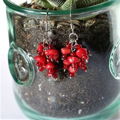 Perfect gift for any occasion!!! Birthdays, anniversaries, bridesmaid jewelry, you name it! Make sure you buy an extra pair because Im sure youd want to keep one for yourself!  This adorable semi-precious stone red coral cluster earring will surely give you an extra glow paired with your favorite red outfit! The red coral is a stone of passion, creativity and optimism. Emotionally, coral brings inner peace, strength, and understanding of purpose. Physically, coral is used in alternative…