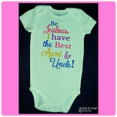 Hey, I found this really awesome Etsy listing at https://www.etsy.com/listing/187306801/baby-girl-clothes-love-my-aunt-love-my