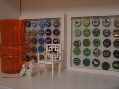 Collection of bottle caps by Chez Larsson, via Flickr
