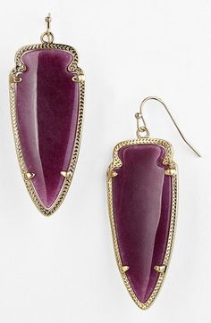 Free shipping and returns on Kendra Scott 'Skylar Spear' Statement Earrings at Nordstrom.com. Colorful arrowheads rest in the etched gold frames of spirited French-wire earrings.