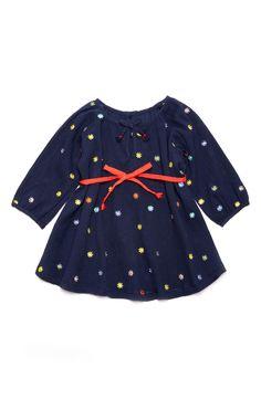 Main Image - Margherita Embroidered Polka Dot Dress (Toddler Girls, Little Girls & Big Girls)