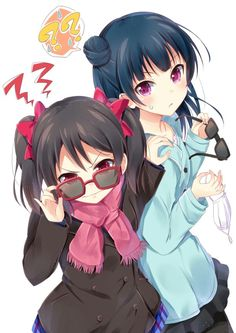 Nico and Yohane from qLove Live and Love Live Sunshine