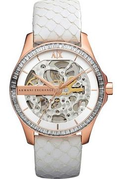 A|X Embellished Skeleton Dial Watch - Watches - Accessories - Armani Exchange