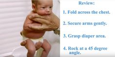 """Our life hack today is a perfect solution for calming your little one! Robert Hamilton, a pediatrician from Santa Monica, California is going to teach us an unusual trick on how to soothe a crying baby by using """"The Hold"""" technique. This method has be Soothing Baby, Calming, Baby Outfits, Baby Life Hacks, Baby Information, My Bebe, Future Maman, Baby Care Tips, Baby Supplies"""