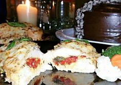 Roasted Red Pepper Mozzarella and Basil Stuffed Chicken Recipe -  How are you today? How about making Roasted Red Pepper Mozzarella and Basil Stuffed Chicken?