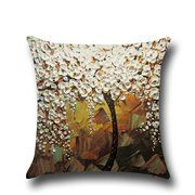 Corlorfulworld dreidimensionale Malerei Bäume Blumen Baumwolle Kissenbezug Kissen Auto Taille Kissenbezug Pillowcase, Cushion Cover Soft and Comfortable Pillow Poly Cotton 45 x Machine Washable And Dryable Linen Pillows, Throw Pillow Cases, Cushions On Sofa, Oil Painting Trees, 3d Painting, Painting Flowers, Textiles, Sofa Cushion Covers, Canvas Designs