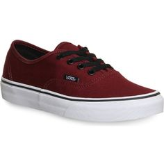 VANS Vans authentic ($72) ❤ liked on Polyvore featuring shoes, sneakers, vans, port royale black, round cap, lace up sneakers, round toe sneakers, vans sneakers and black shoes