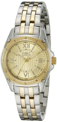 Invicta Women's 16322 Angel Diamond-Accented Two-Tone Stainless Steel Bracelet Watch.  Bringing you the best luxury watches online at the most affordable prices for premium brand name watches: http://www.bestwatches1st.com/#!invicta-angel-watch-collection/kb04e