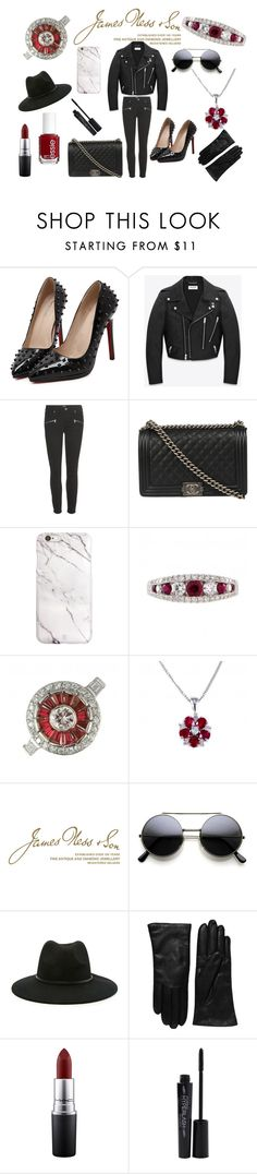 """Ruby"" by jamesness ❤ liked on Polyvore featuring WithChic, Yves Saint Laurent, Paige Denim, Chanel, Wedgwood, Forever 21, Saks Fifth Avenue Collection, MAC Cosmetics, Essie and Smashbox"