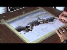 ▶ Pintando acuarela... Paisaje Nevado - Urango - YouTube