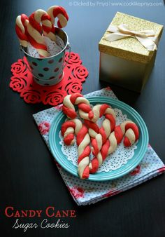 Eggless Candycane Cookies | Christmas 2014 Recipes