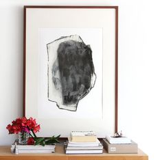 Huge Graphite Abstract Portrait, Black Lead Archiva Art Print, 20x27 Poster Size Artwork, 27x39