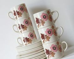 CROWN LYNN, Coffee Can Trio's for sale on Trade Me, New Zealand's auction and classifieds website Coffee Cans, Cup And Saucer, Tea Cups, Porcelain, Pottery, Crown, Canning, Mugs, Tableware