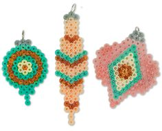 Christmas Glittered Ornaments Perler Project Pattern
