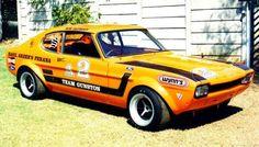 South Africa's Capri Perana was essentially a Capri stuffed full of Ford parts. Ford Mustang, Ford Gt40, Classic Race Cars, Ford Classic Cars, Ford Capri, Mercury Capri, Cars Uk, Ford Escort, Car Ford